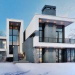 Шикарный дом в стиле конструктивизм
