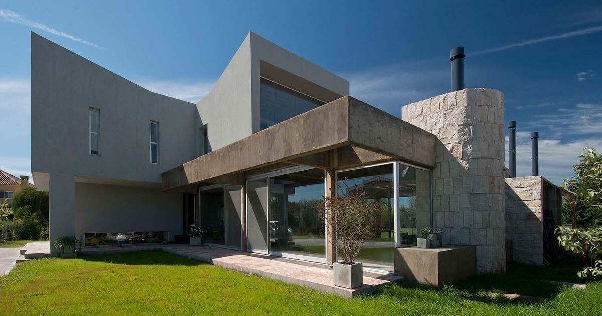 Дом в стиле конструктивизм