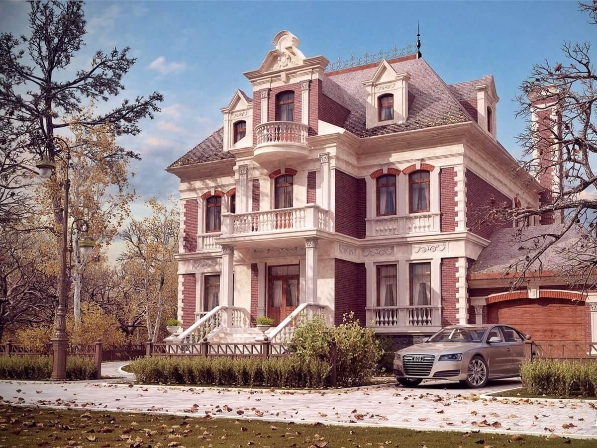 Загородный дом в классическом стиле