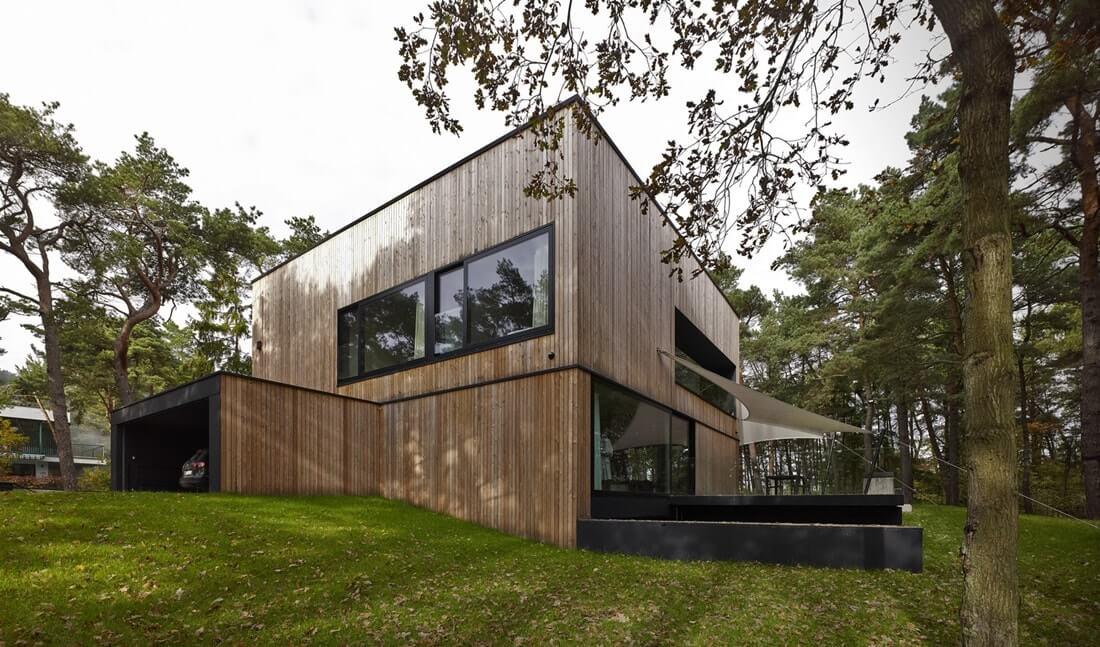 Загородный дом в стиле конструктивизм