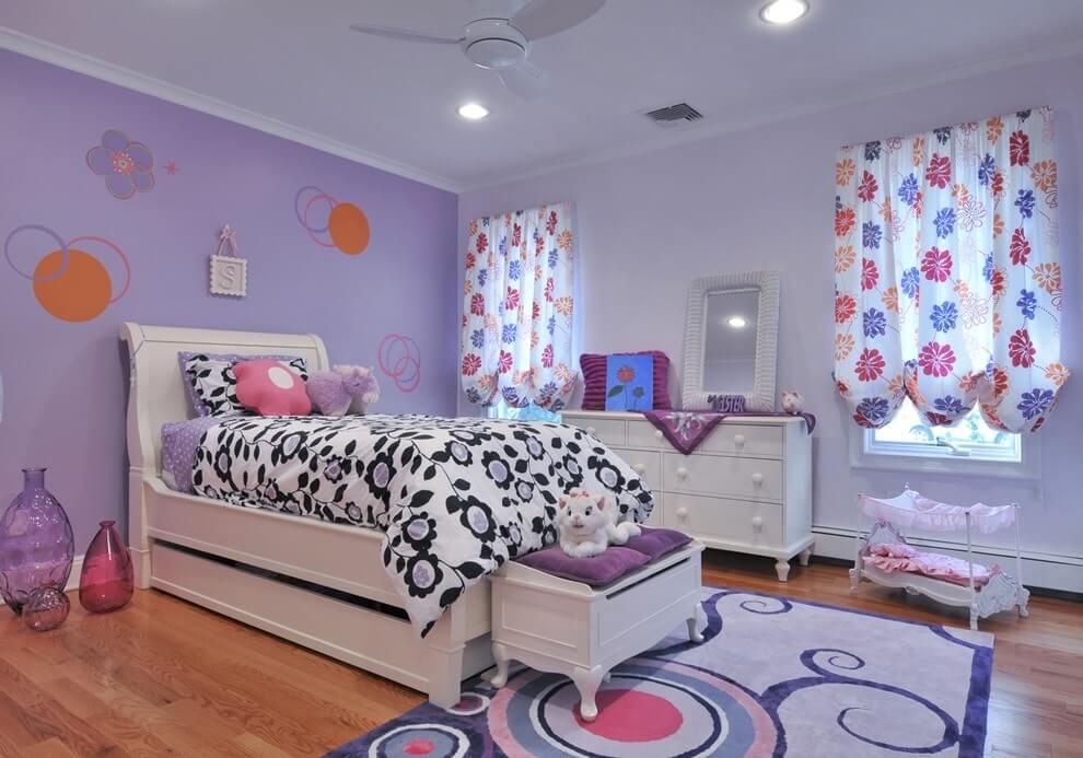 Сиреневый цвет в интерьере детской комнаты