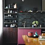 Стильная кухня в чёрном цвете