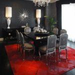 Чёрный цвет в интерьере столовой