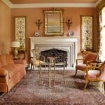 Персиковый цвет в стилистике рококо