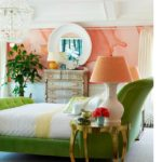 Персиковый цвет в интерьере - фото