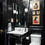 Черные стены в туалете