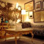 Триптих в интерьере гостиной - фото