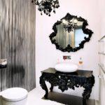 Стильная чёрная мебель для ванной