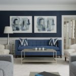 Двухцветный диптих в дизвйне гостиной - фото