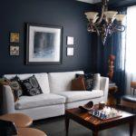 Черный цвет в интерьере гостиной - фото