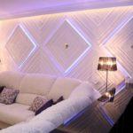 Светодиодная подсветка для стен - фото