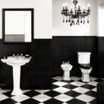Туалет в черном цвете
