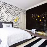 Комната подростка в чёрном цвете