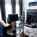 Дизайн гостиной в черном цвете - фото