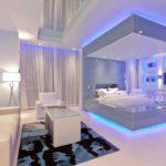 Светодиодная подсветка в спальной комнате