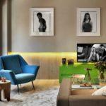 Светодиодная подсветка в гостиной - фото