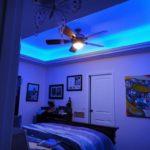 Светодиодная подсветка в спальной комнате - фото