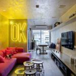 LED-подсветка в интерьере гостиной - фото
