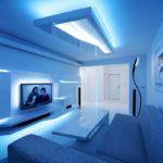 LED-подсветка в футуристическом интерьере