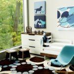 Модульные картины в интерьере детской комнаты мальчика