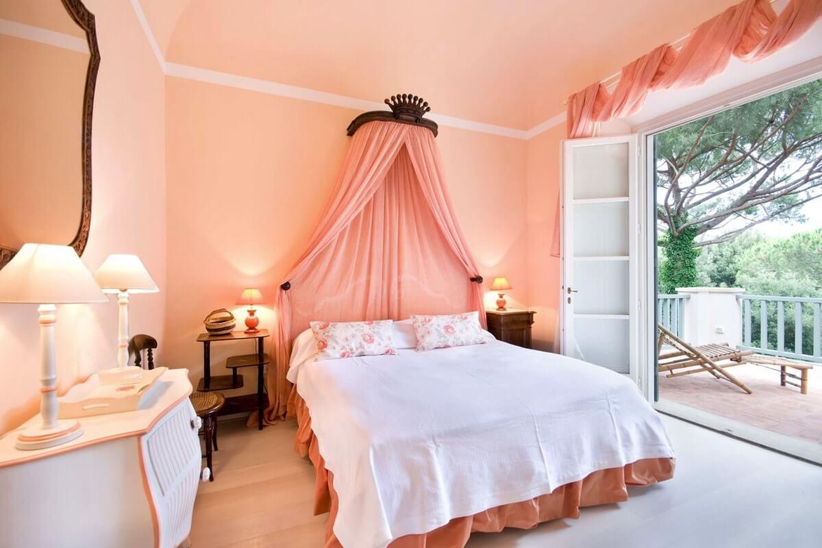 этой причине спальни в персиковом цвете фото даже