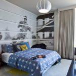 Модульные картины в интерьере детской комнаты подростка