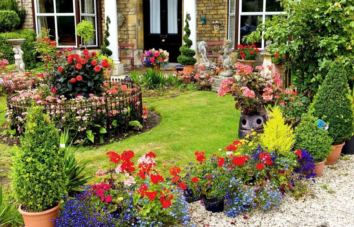 Ландшафтный дизайн в английском кантри стиле
