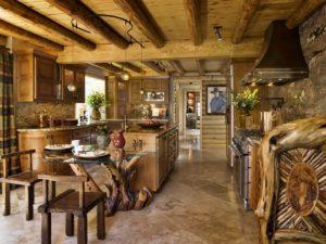 Интерьер кухни в стиле ранчо