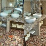 Наливной пол в ванной - фото
