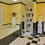 Оформление ванной в желтом цвете - фото