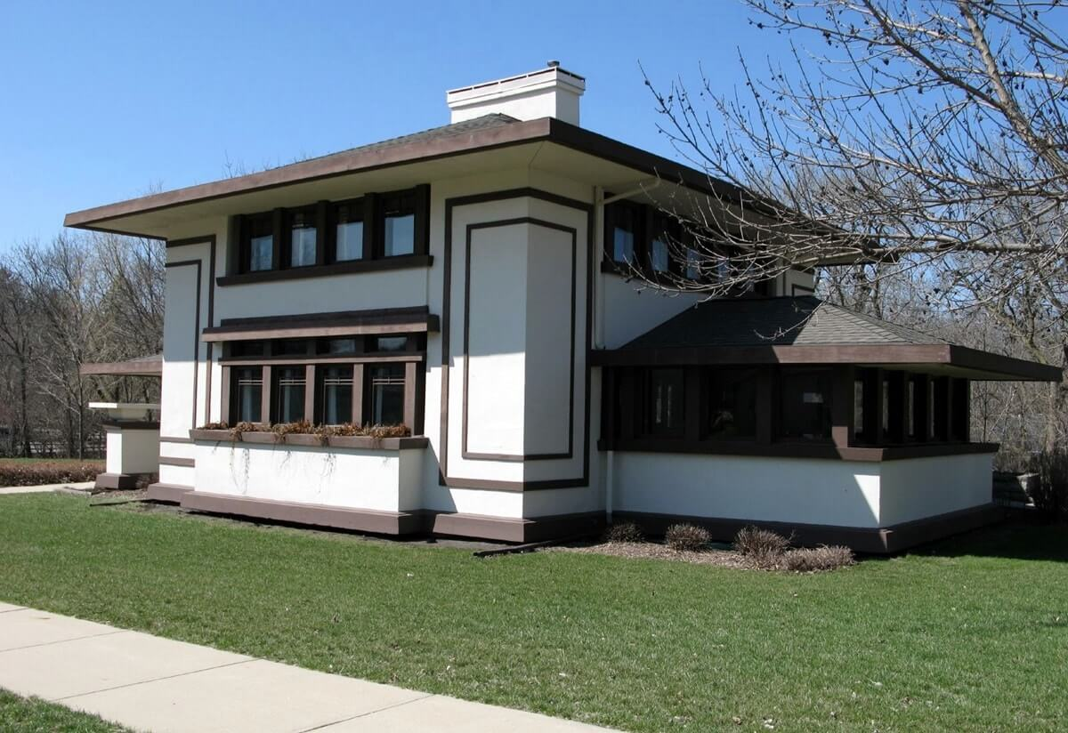 Загородный дом в стиле Райта