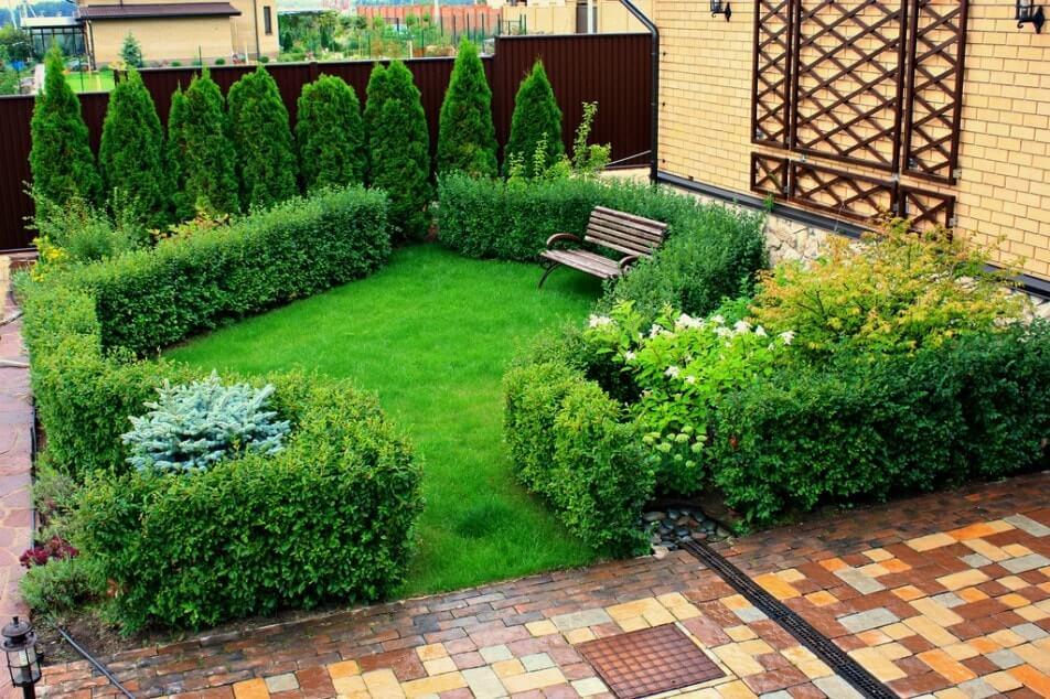 Место для отдыха в голландском саду