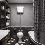 Серый цвет в интерьере ванной комнаты - фото