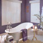 Дизайн ванной комнаты в фиолетовом цвете - фото
