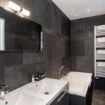 Черный и белый цвета в интерьере ванной