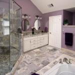 Сиреневый цвет в интерьере ванной