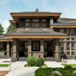Проект дома в стиле прерий