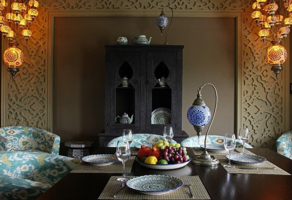 Интерьер в османском стиле - освещение