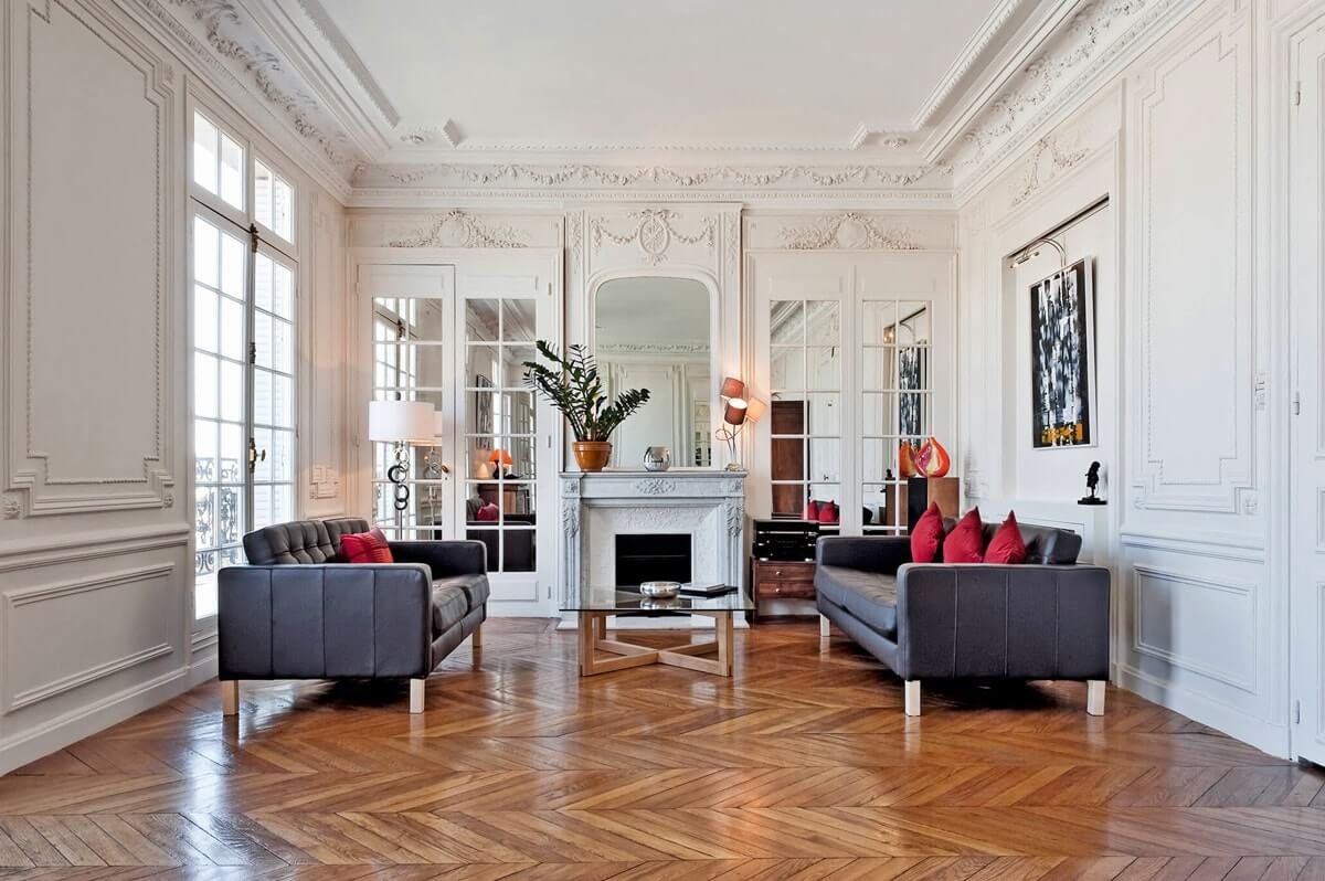 Интерьер гостиной в парижском стиле