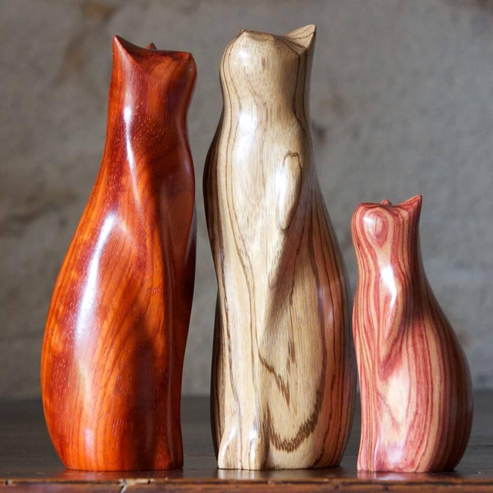 Красивые статуэтки из дерева