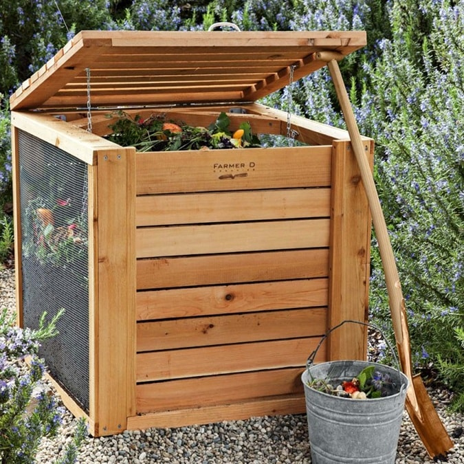 Красивый компостный ящик для сада