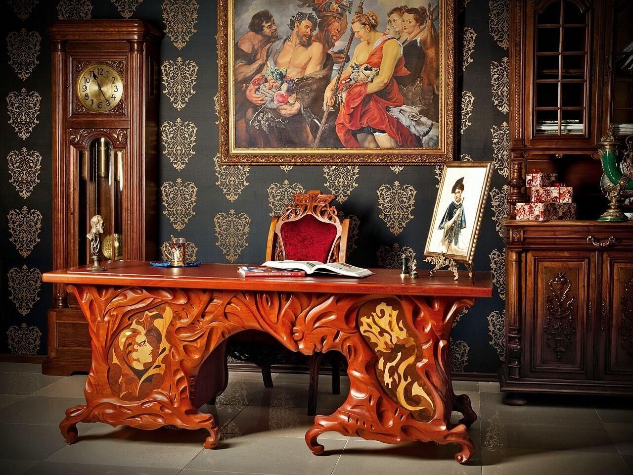 Резная мебель, варианты, достоинства и недостатки, фото - Rehouz