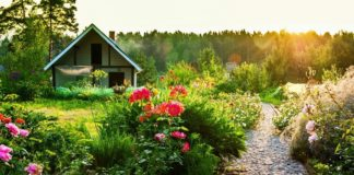 Русский кантри стиль в ландшафтном дизайне