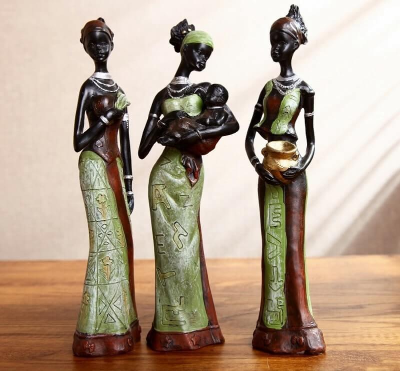 Статуэтки для интерьера в африканском стиле