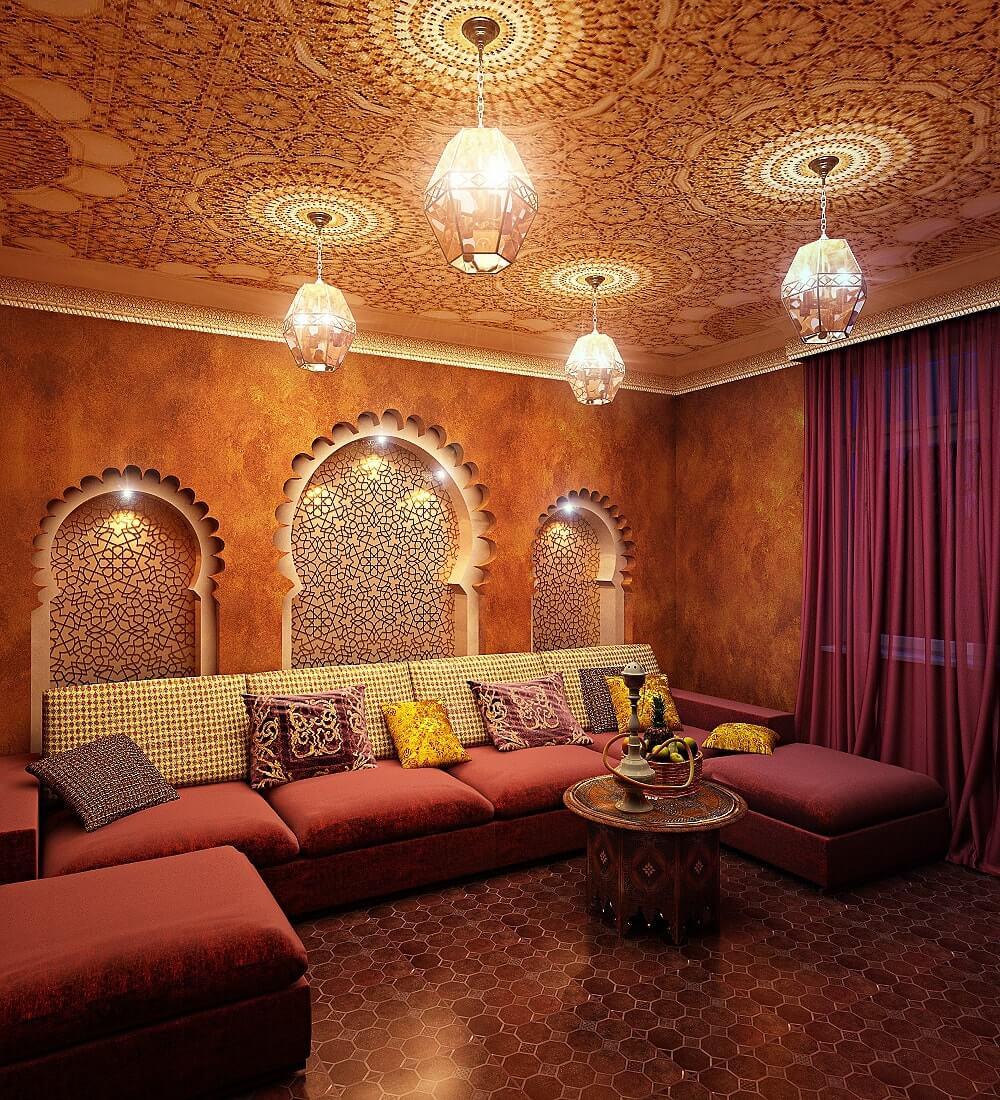 Цвета интерьера в османском стиле