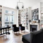 Оформление библиотеки в парижском стиле