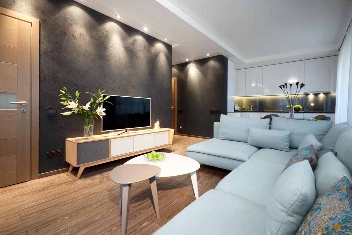 Акцентная подсветка в дизайне гостиной