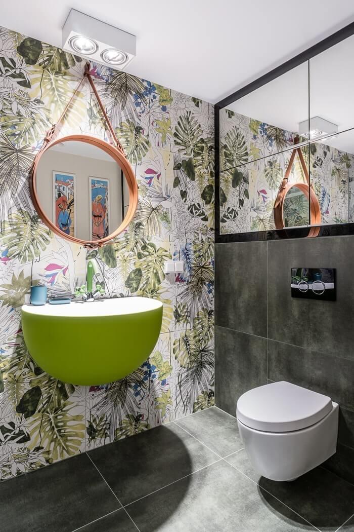 Акцентная стена в дизайне ванной