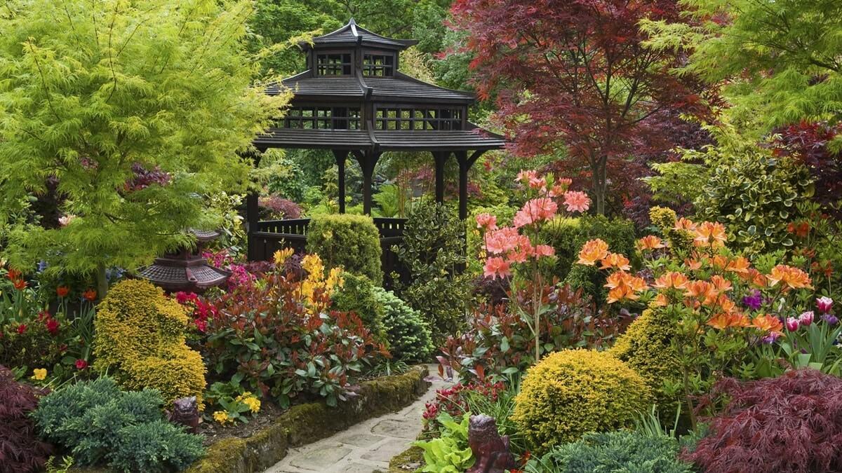 Беседка для сада в японском стиле