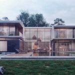 Большой загородный дом в современном стиле